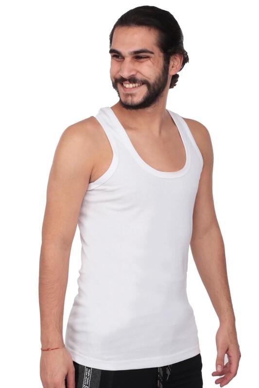 TUTKU - Tutku Erkek Ribana Atlet 102 6'lı Paket | Beyaz