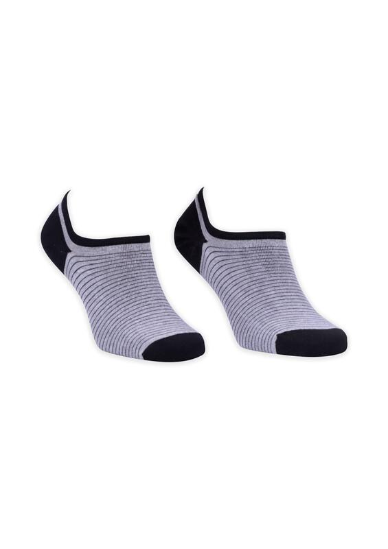 ROFF - Bamboo Çizgili Erkek Babet Çorabı 002 | Siyah
