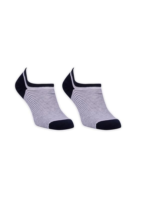 ROFF - Bamboo Çizgili Erkek Babet Çorabı 002 | Lacivert