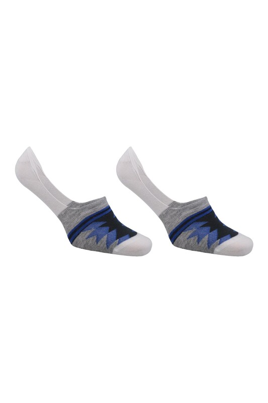 ROFF - Roff Desenli Erkek Bambu Babet Çorap 10229 | Mavi