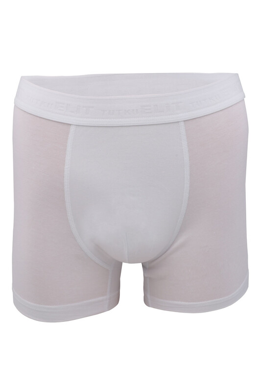 TUTKU ELİT - Tutku Elit Modal Elastan Erkek Boxer 1251 | Beyaz