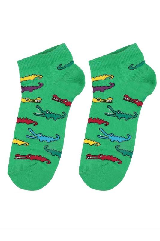 DÜNDAR - Dündar Timsah Desenli Erkek Çocuk Çorap 123 | Yeşil
