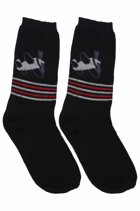 ÜÇ-EL - Erkek Çocuk Çorap 52 | Siyah