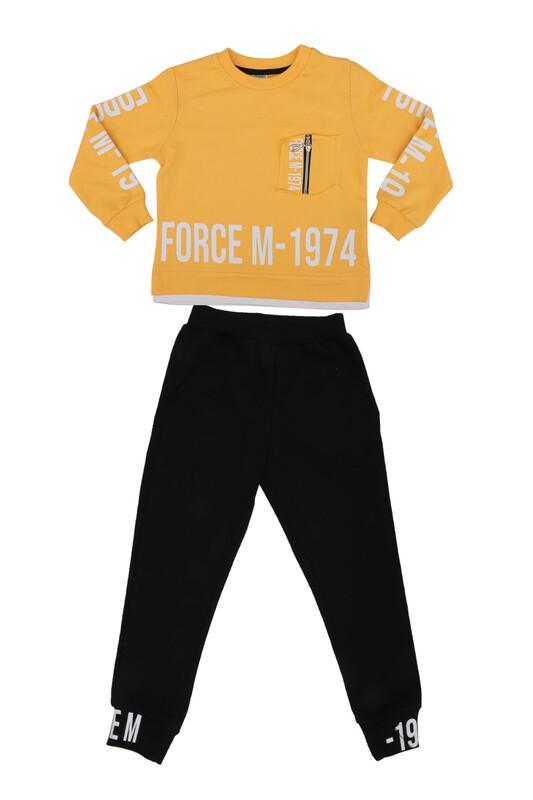 Damla - Damla Fermuarlı Erkek Çocuk Eşofman Takımı 20525 | Sarı