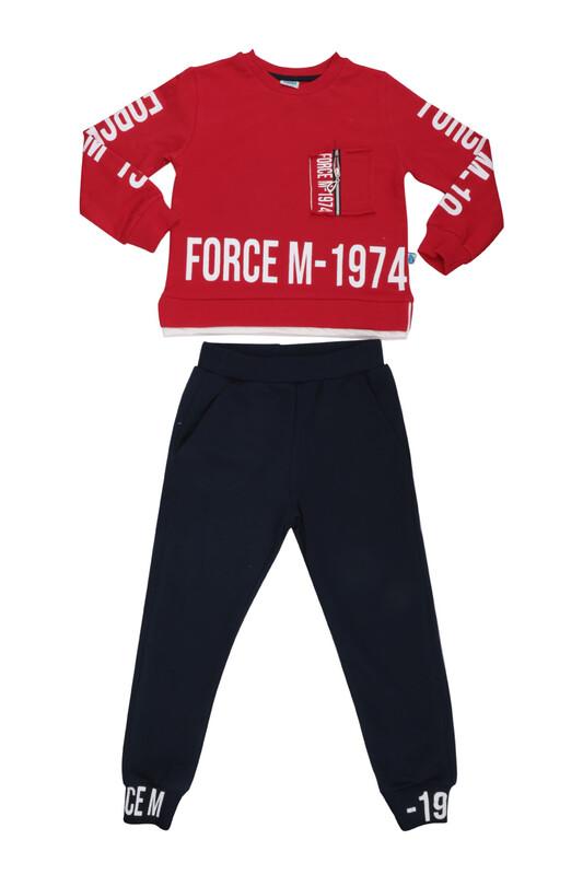 Damla - Damla Fermuarlı Erkek Çocuk Eşofman Takımı 20525 | Kırmızı
