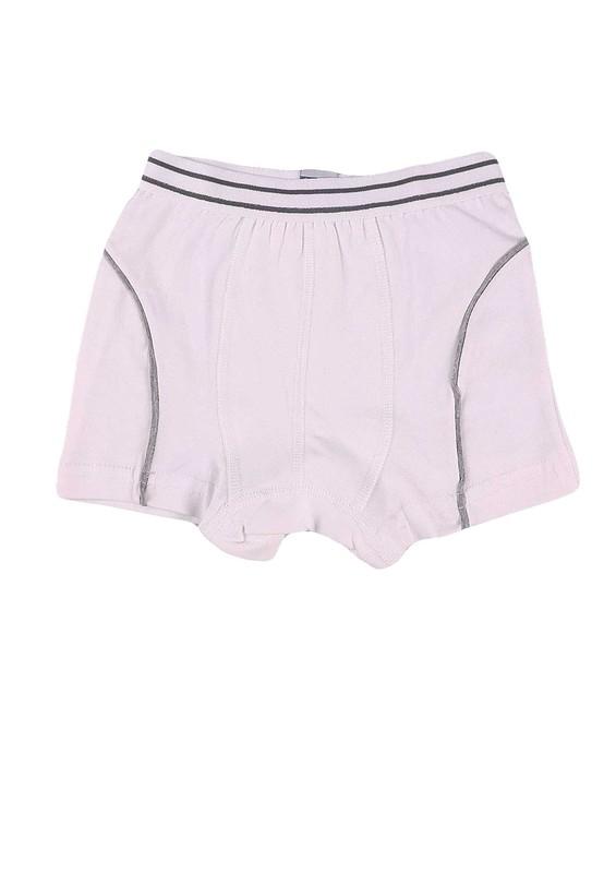 TUTKU - Tutku Çocuk Elastan Boxer 133   Beyaz