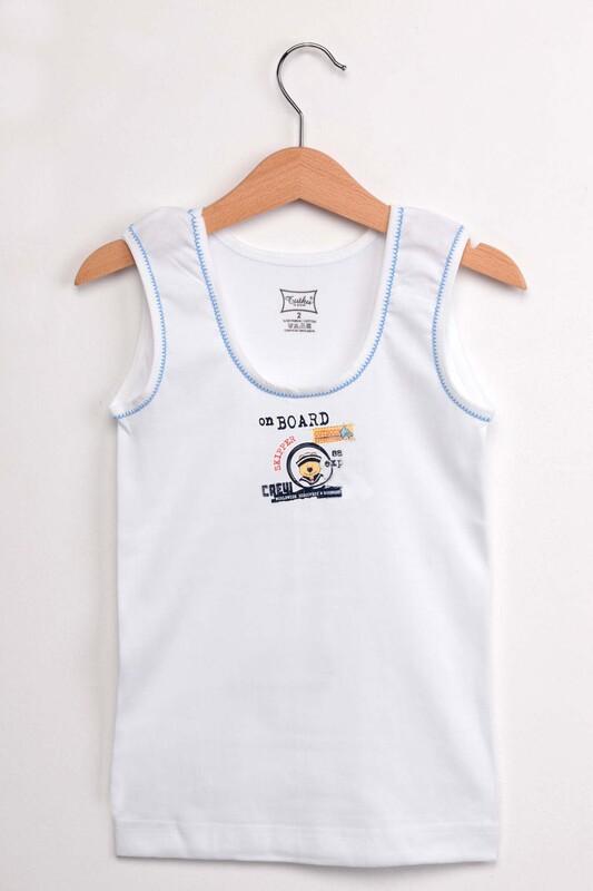 TUTKU - Tutku Sütaşlı Erkek Çocuk Atlet Külot Takım   Mavi