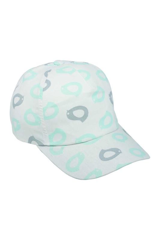 Fatih - Desenli Erkek Çocuk Şapka | Beyaz