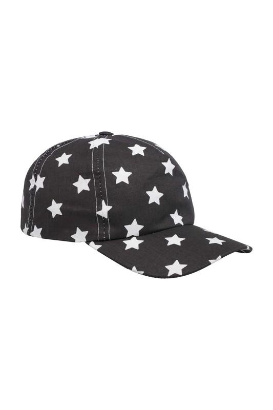 SİMİSSO - Yıldız Desenli Erkek Çocuk Şapka | Siyah