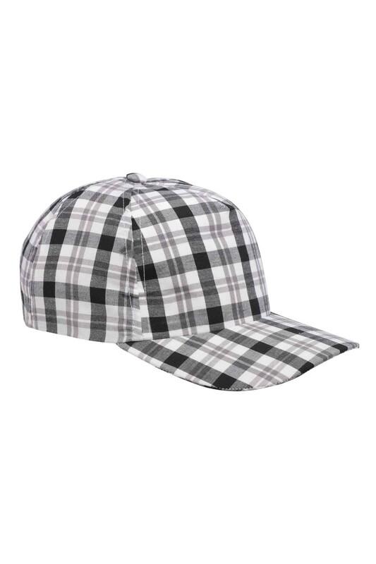 SİMİSSO - Kareli Erkek Çocuk Şapka | Siyah