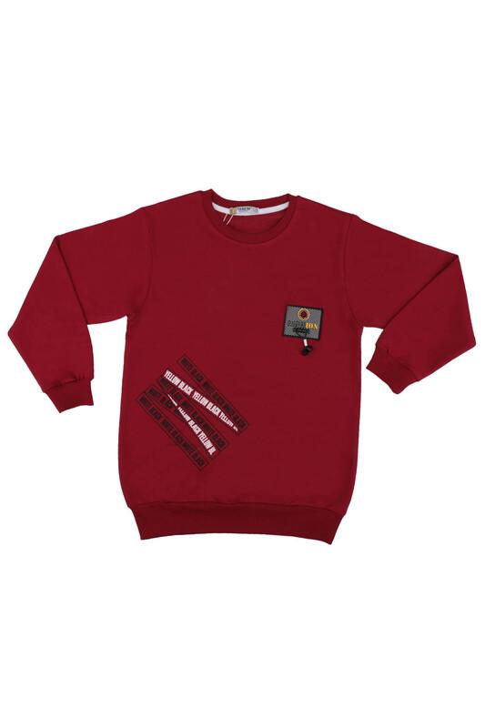Tanem - Fashion Armalı Erkek Çocuk Sweatshirt | Bordo