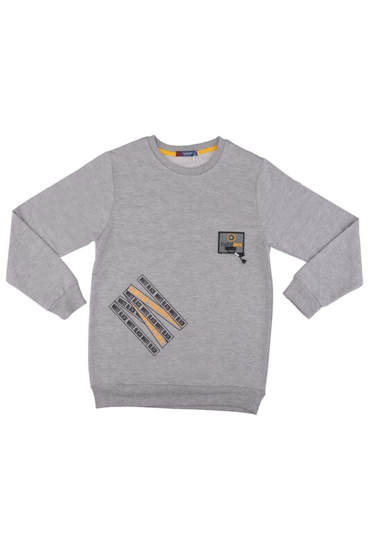 Tanem - Fashion Armalı Erkek Çocuk Sweatshirt | Gri