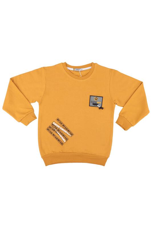Tanem - Fashion Armalı Erkek Çocuk Sweatshirt | Hardal