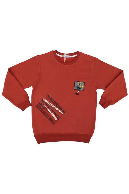 Tanem - Fashion Armalı Erkek Çocuk Sweatshirt | Kiremit