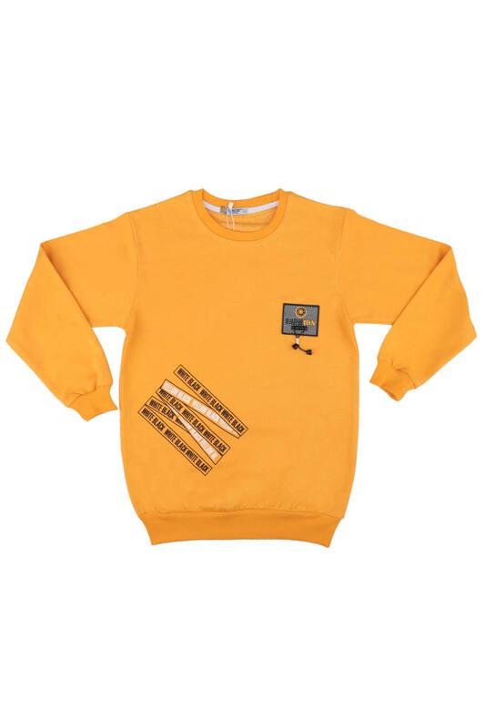 Tanem - Fashion Armalı Erkek Çocuk Sweatshirt | Sarı