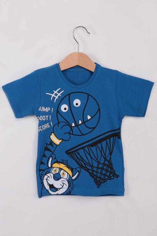 ARBİ - Basketbol Baskılı Erkek Çocuk Tshirt   Saks