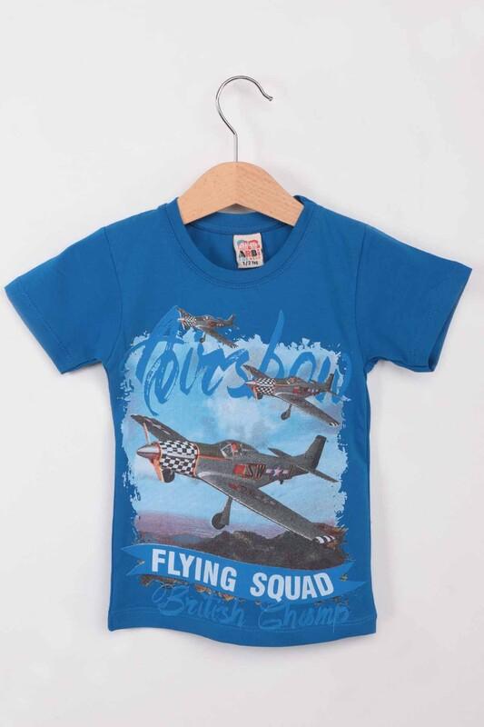ARBİ - Airplane Baskılı Erkek Çocuk Tshirt   Saks
