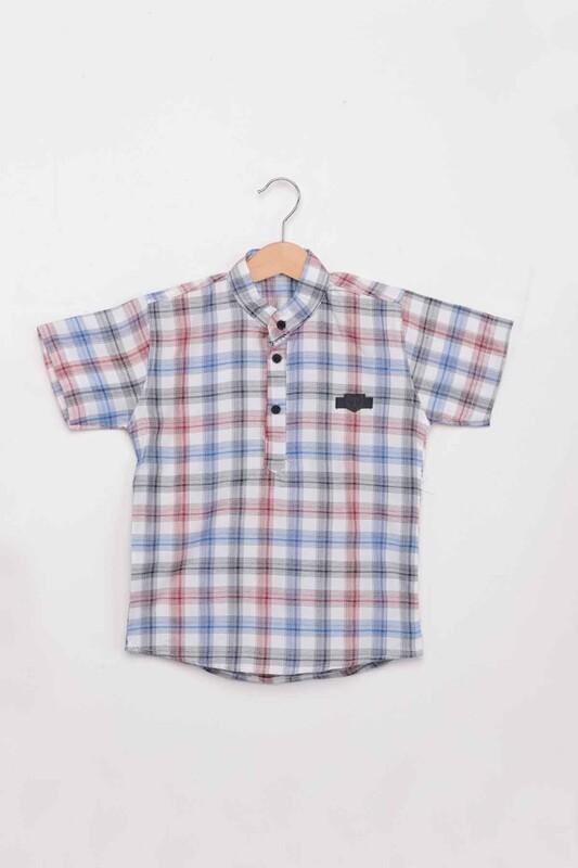 SİMİSSO - Ekose Erkek Çocuk Gömlek | Kırmızı