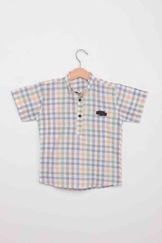 SİMİSSO - Çizgi Desenli Erkek Çocuk Gömlek | Sarı