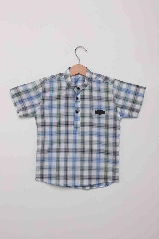 SİMİSSO - Ekose Erkek Çocuk Gömlek | Yeşil