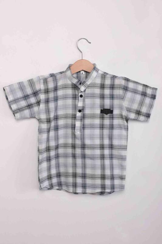 SİMİSSO - Ekose Erkek Çocuk Gömlek | Gri