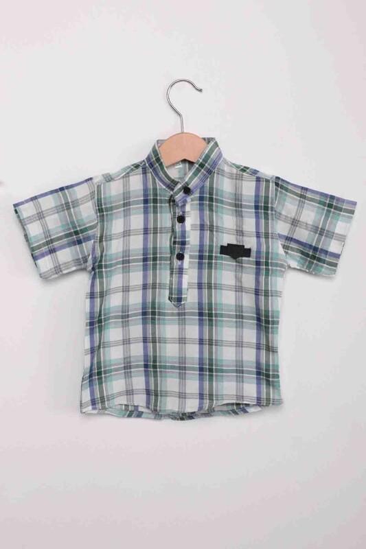 SİMİSSO - Ekose Erkek Çocuk Gömlek   Mavi