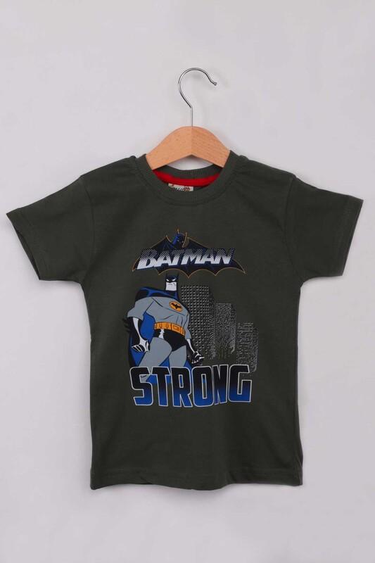 WALOX - Baskılı Erkek Çocuk Tshirt 1216 | Haki