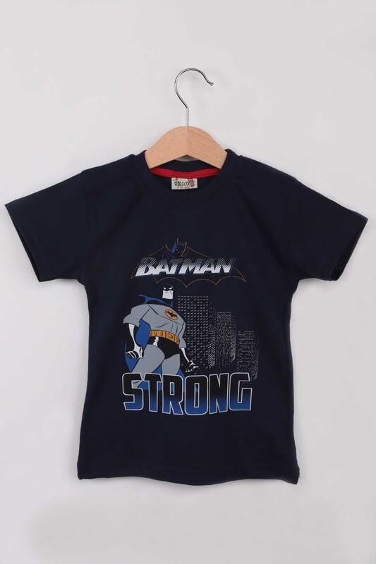 WALOX - Baskılı Erkek Çocuk Tshirt 1216 | Lacivert