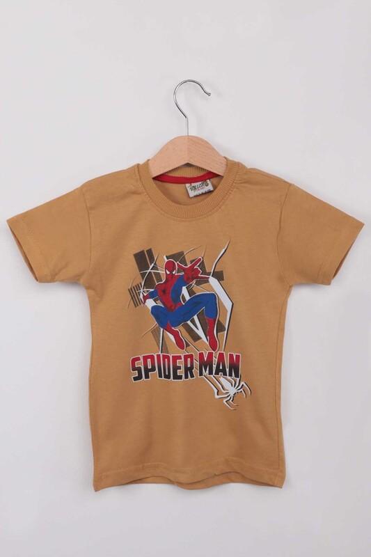 WALOX - Baskılı Erkek Çocuk Tshirt 1215 | Hardal