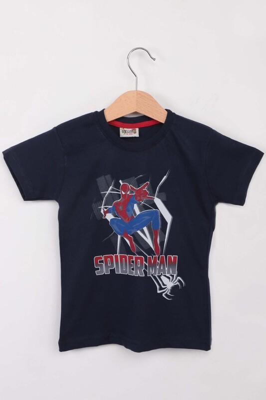 WALOX - Baskılı Erkek Çocuk Tshirt 1215| Lacivert
