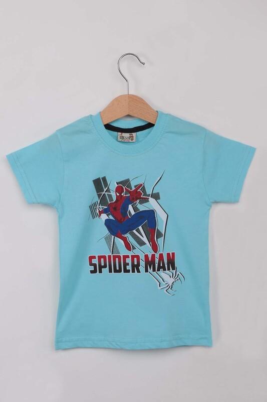 WALOX - Baskılı Erkek Çocuk Tshirt 1215| Mavi