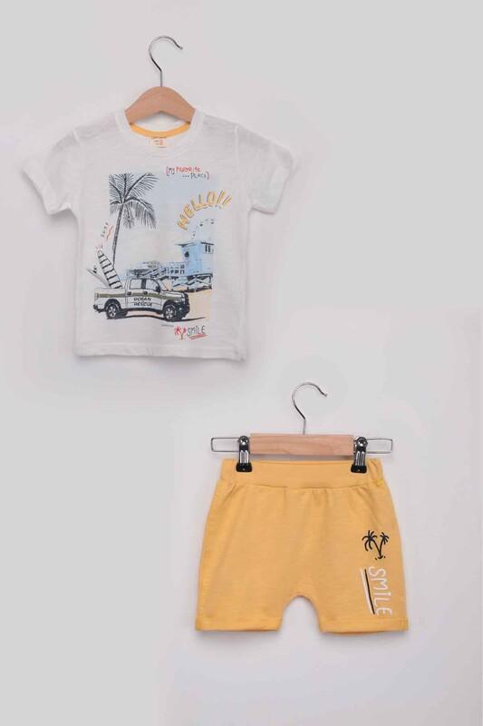 Luminoso - Smile Erkek Çocuk Şortlu Takım | Sarı