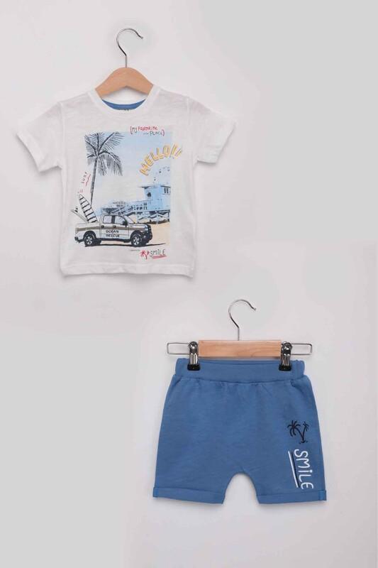 Luminoso - Smile Erkek Çocuk Şortlu Takım | Mavi