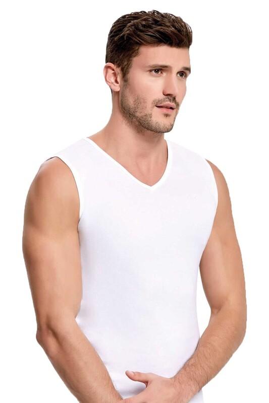 İLKE - İlke Ribana Atlet 1008 | Beyaz