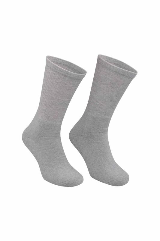 DÜNDAR - Erkek Tenis Havlu Çorap 7002 | Gri