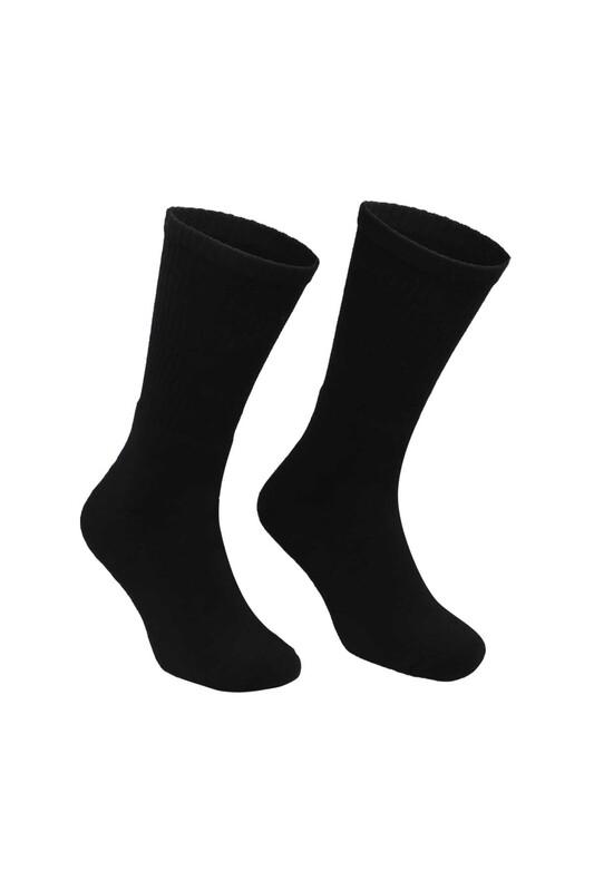 DÜNDAR - Erkek Tenis Havlu Çorap 7002 | Siyah