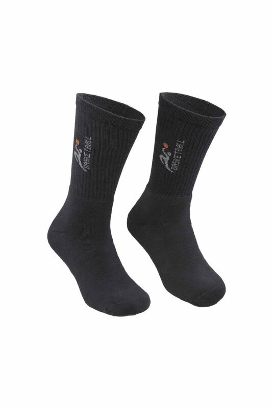DÜNDAR - Erkek Desenli Tenis Havlu Çorap 7002 | Antrasit
