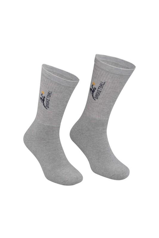 DÜNDAR - Erkek Desenli Tenis Havlu Çorap 7002 | Gri