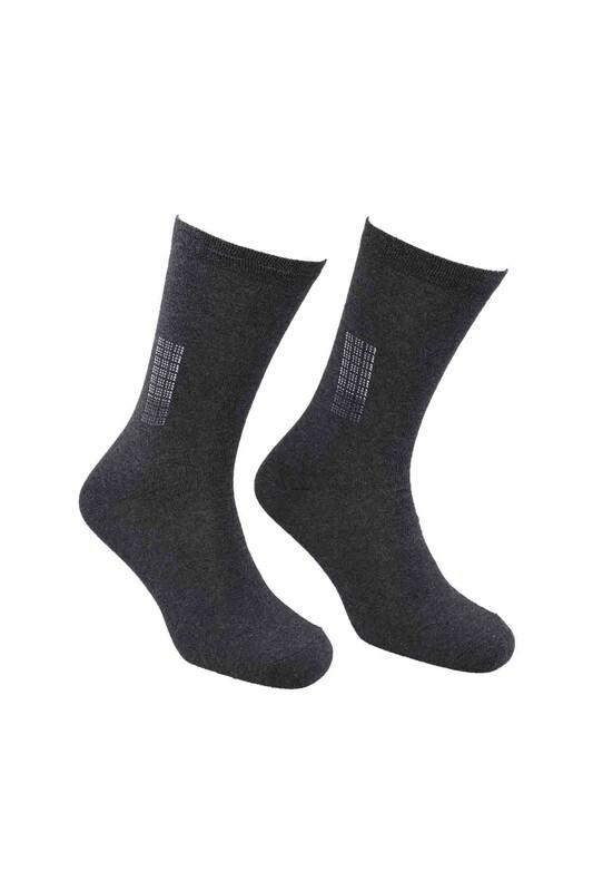 FİENFİ - Nokta Desenli Erkek Çorap   Siyah