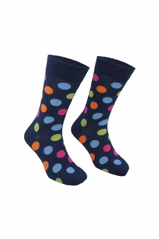 PİERRE CARDİN - Pierre Cardin Marble Desenli Erkek Çorap 209 | Lacivert