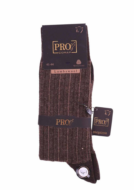 PRO - Pro Yün Çorap 13606   Kahverengi
