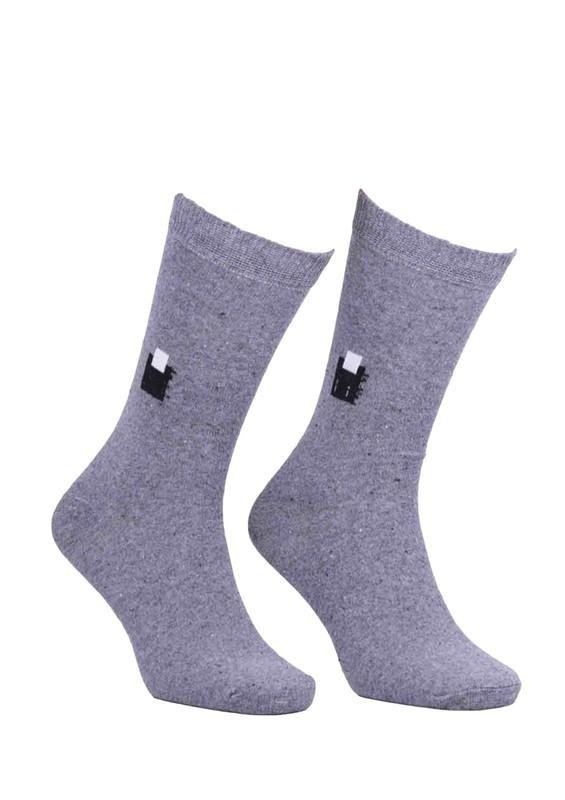 SİMİSSO - Simisso Likralı Çorap 500   Füme