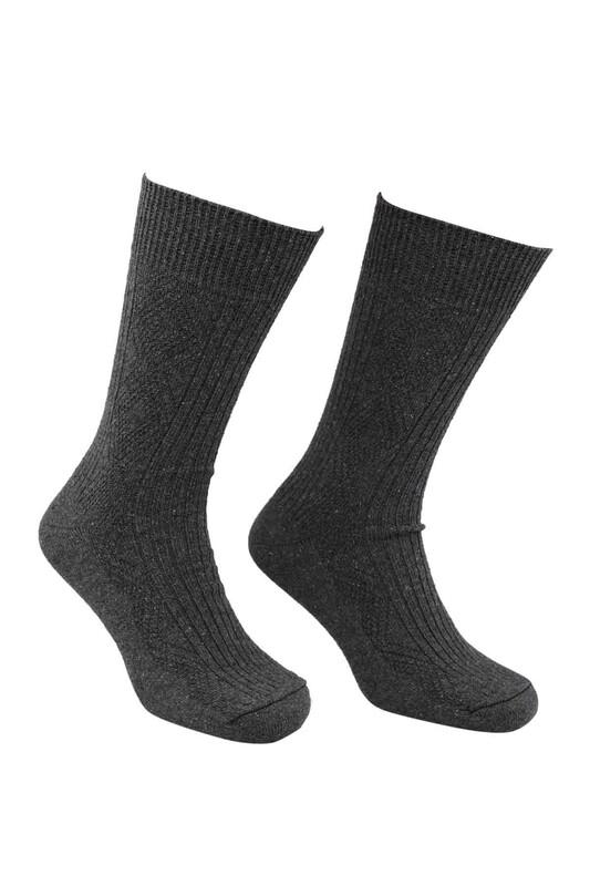 SİMİSSO - Erkek Yün Çorap   Füme