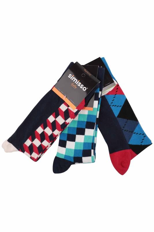 SİMİSSO - Simisso Renkli Çorap Seti 3'lü | Set 13