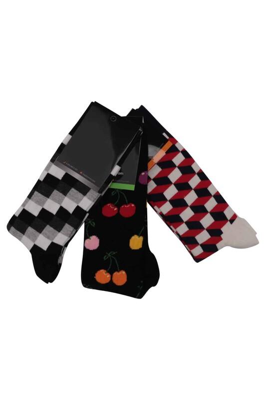 SİMİSSO - Simisso Renkli Çorap Seti 3'lü | Set 8