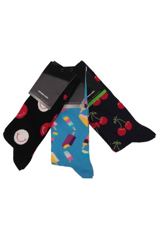 SİMİSSO - Simisso Renkli Çorap Seti 3'lü   Set 23