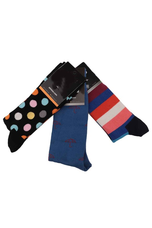 SİMİSSO - Simisso Renkli Çorap Seti 3'lü | Set 40