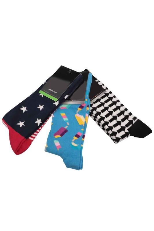 SİMİSSO - Simisso Renkli Çorap Seti 3'lü | Set 58