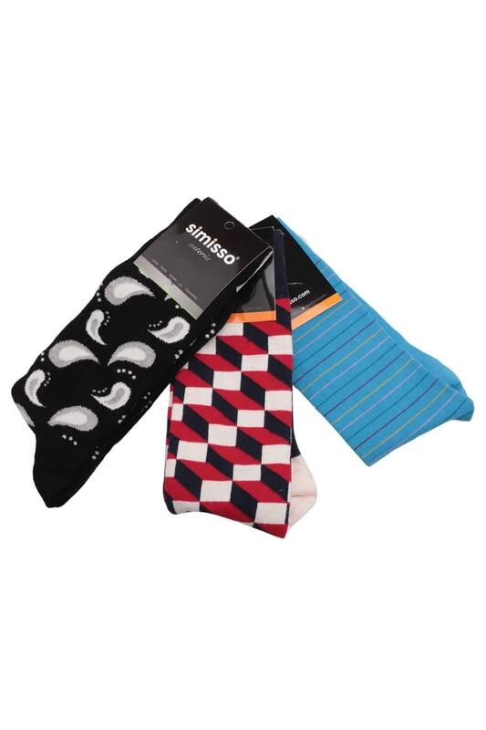 SİMİSSO - Simisso Renkli Çorap Seti 3'lü | Set 57