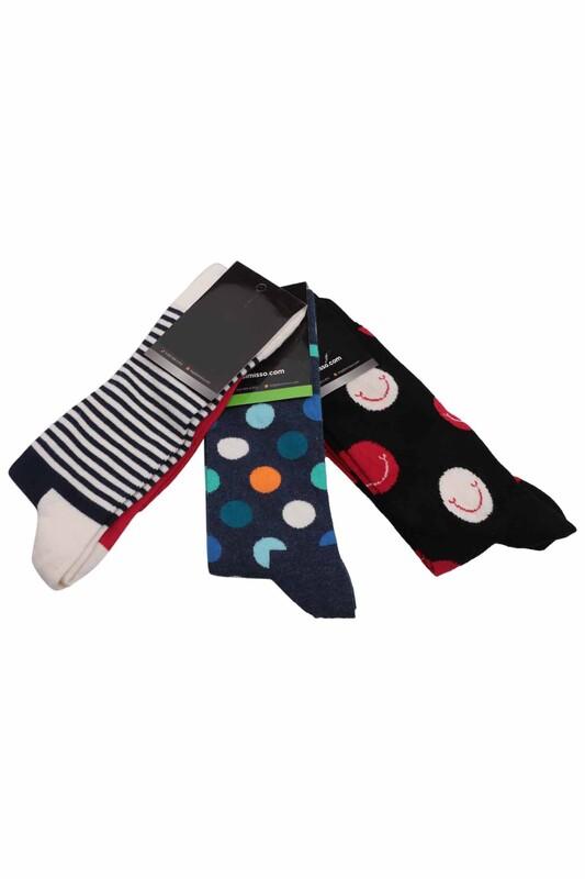 SİMİSSO - Simisso Renkli Çorap Seti 3'lü | Set 49